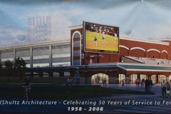 The Harrison Square Parking Deck and Event Center rendering
