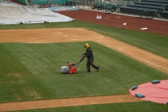 2009/04/14: Mowing the infield