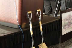 2007/11/29: Two of the shovels used in the Groundbreaking Ceremony