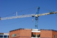 Construction crane at Lutheran Hospital