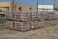 2009/03/22: Salvaged bricks, ready for shipment