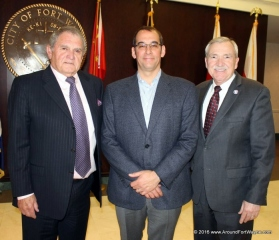 Larry Griggers, Brad Toothaker, and Mayor Tom Henry