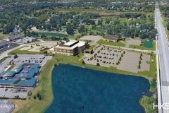 Aerial view rendering of Parkview Inverness Outpatient Center