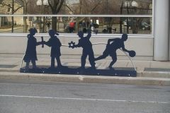 The Barr Street Ribbon of Community silhouettes