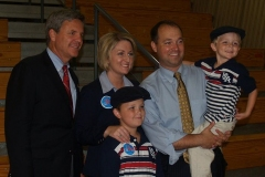 Murray Clark with Marlin Stutzman and family