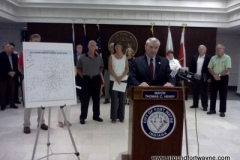 2012/07/02: City of Fort Wayne storm damage news conference