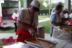 2012/08/02: American Red Cross serves breakfast