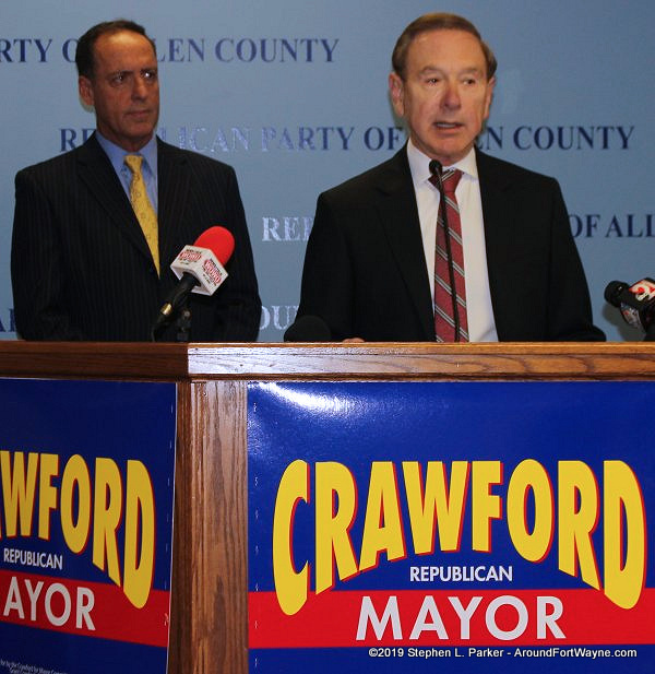 Republican City Councilman Tom Didier and Republican Mayoral candidate John Crawford