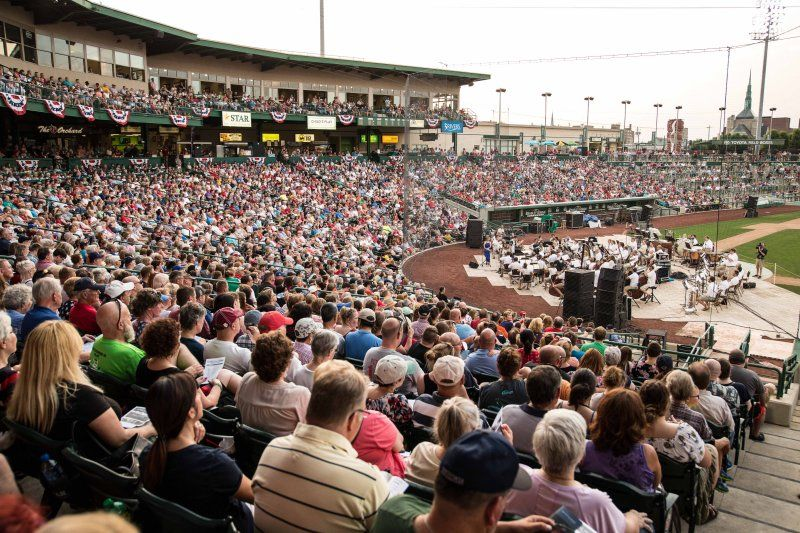 The Fort Wayne Philharmonic at a Patriotic Pops concert