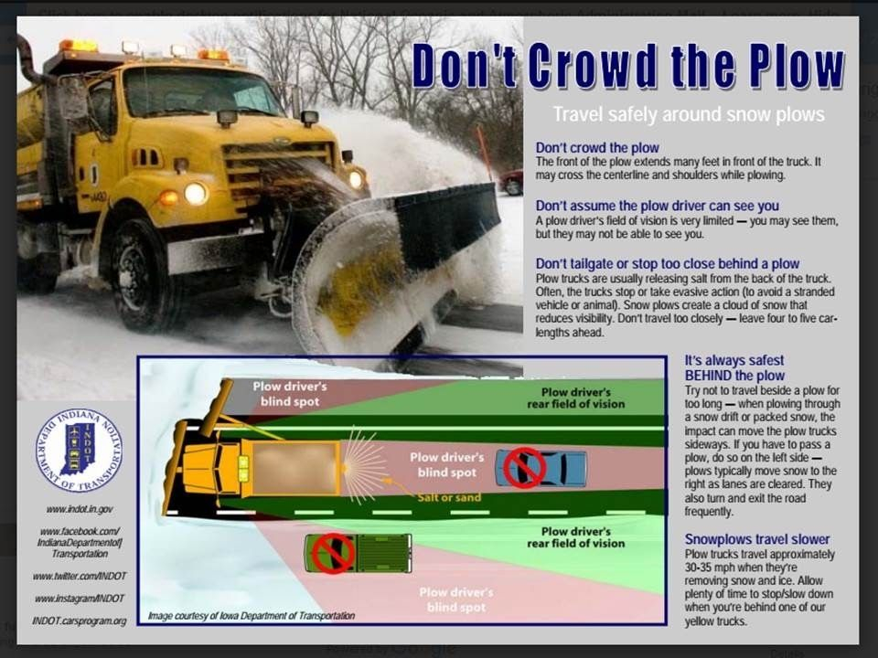 call-out of snowplows Indiana Department of Transportation