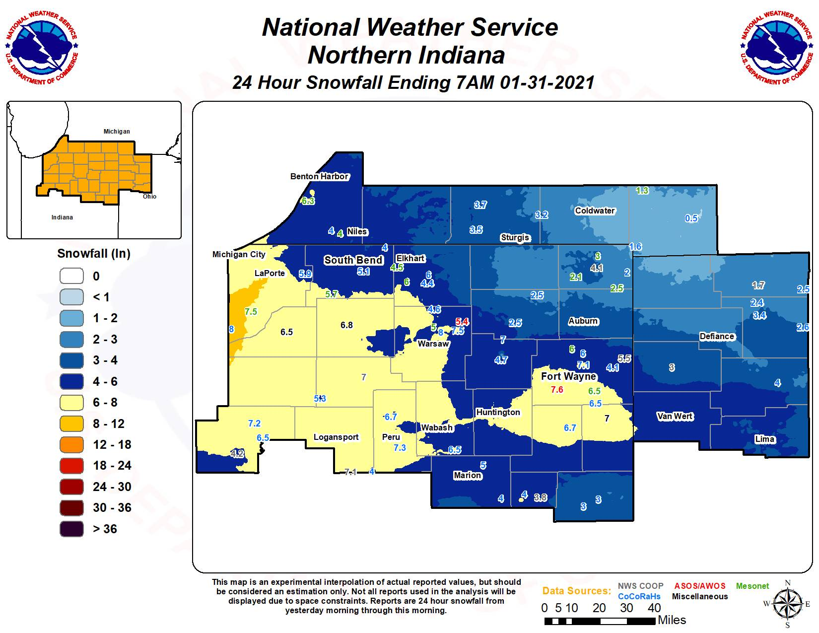 winter storm National Weather Service Fort Wayne, Indiana