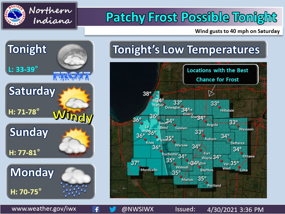 patchy frost